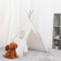 Baby-Portable-Wigwam-Canva-Triangle-Tipi-Folding-Indoor-Children-Tent-Teepee-Original-Triangle-Indian-Kid-Tent