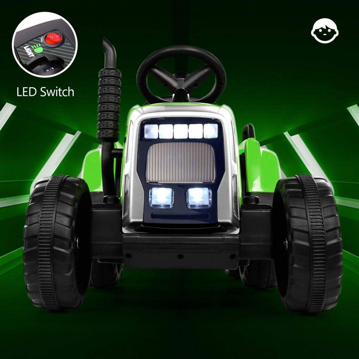 Traktorek-4toys-MX611-z-przyczepka-Zielony-232108