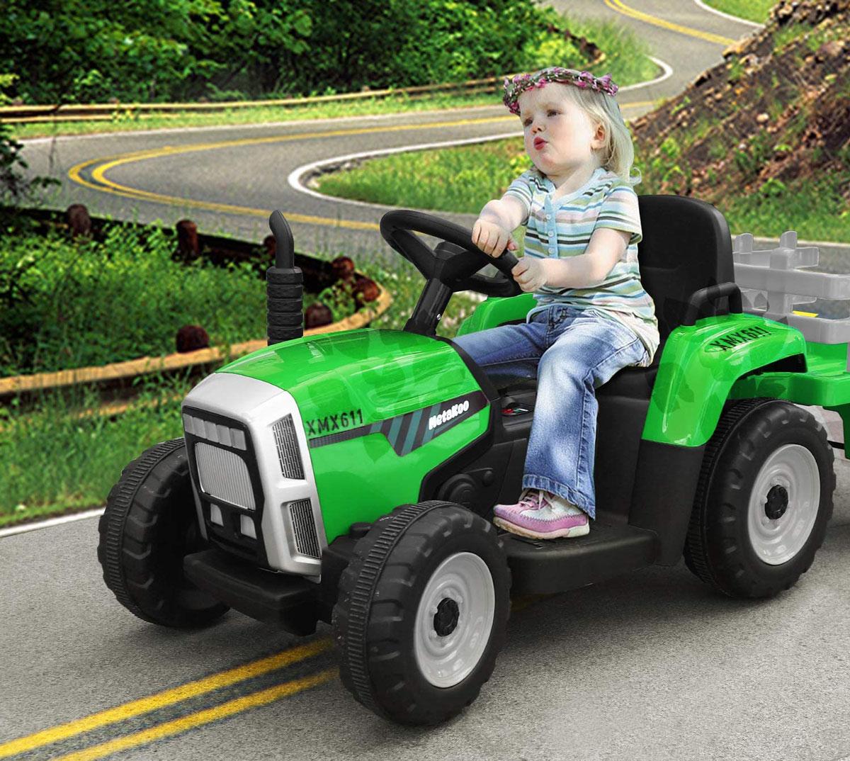Traktorek-4toys-MX611-z-przyczepka-Zielony-232109
