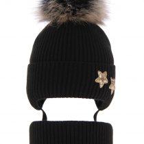pol_pl_Komplet-dla-dziewczynki-czapka-i-komin-zimowy-czarny-Delicja-3840_1