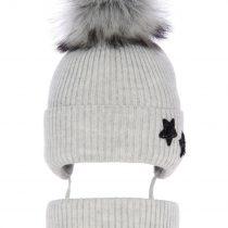 pol_pl_Komplet-dla-dziewczynki-czapka-i-komin-zimowy-szary-Delicja-3836_1
