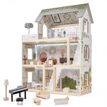 KX5944 Domek dla lalek drewniany apartament Ikonka boho 1-2